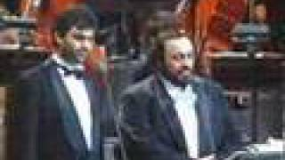 "Andrea Bocelli & Luciano Pavarotti ""Mattinata"" on stage"