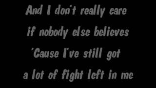 Chacha Cañete - Fight Song (Rachel Platten)(Lyrics)