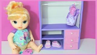 como fazer GUARDA  ROUPA pra boneca BABY ALIVE