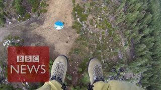 Smokejumpers: Into fire with California's elite firefighters - BBC News width=