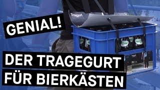 Den Bierkasten wie einen Rucksack tragen - mit TragerlTragerl    Bavarian Makers