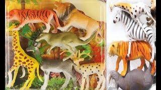 Animali selvatici giocattolo per i bambini in italiano Leone elefante giraffa tigre zebra