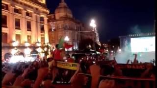 Portugal 2 - 0 Gales (Cidade do Porto) Hino nacional ambiente incrivel