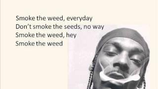 Snoop Lion feat. Collie Buddz - Smoke the Weed (Screen Lyrics)