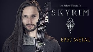 "★ Skyrim: ""Dragonborn"" (Dovahkiin) - Metal Theme Song (Guitar) by Srod Almenara"