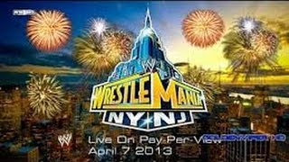 Wrestlemania 29 Theme Song ~ #MetLife Stadium 7th Abril 2013