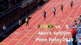 Jamaica🇯🇲 vs USA🇺🇸 Men's 4x400m Penn Relay 2019