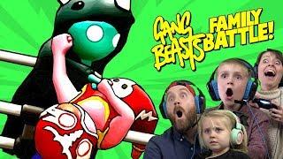 Gang Beasts Family Battle! ft. CAPTAIN SLAMMO   KIDCITY GAMING