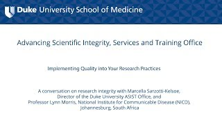 Promoting Research Integrity in the Academic Laboratory Setting: Implementing Quality