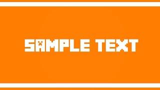 Simple 2D intro Template | Mine-imator