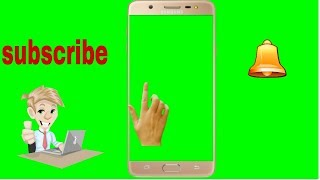No copyright green screen with mobile hand, and bell in hindi | Green screen finger click