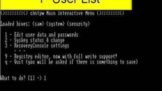 Hacking the Local Administrator's Password in XP