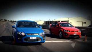 Top Gear Australia Ford FPV F6 vs Holden HSV Clubsport