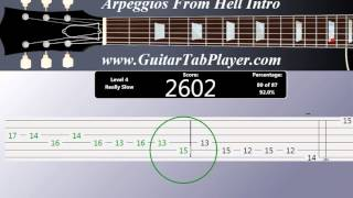 How to play Arpeggios From Hell -Yngwie Malmsteen (with Tab)