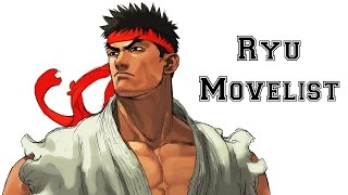 Street Fighter III: 3rd Strike - Ryu Move List