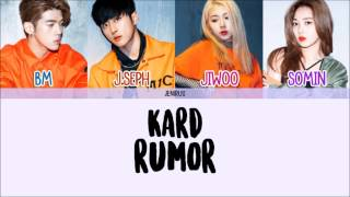 K.A.R.D - Rumor [Eng/Rom/Han] Color Coded Lyrics