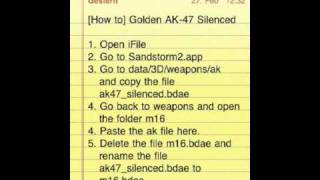 [MC 2] Golden Ak-47 Silenced