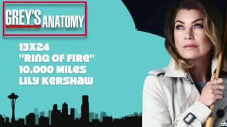 """Grey's Anatomy Soundtrack - """"10,000 Miles"""" by Lily Kershaw (13x24)"""