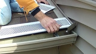 How To Install Snap On Gutter Screen