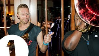 Chris Martin performs Hymn For The Weekend in the Live Lounge