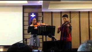 He is lord and Because He live violin cover