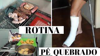VLOG:MINHA ROTINA COM GESSO/  LEINHA SANTOS #peengessado #gesso #pequebrado