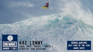 Kai Lenny at Jaws 2 - 2017 Billabong Ride of the Year Entry - WSL Big Wave Awards