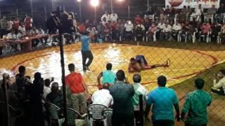 Venkatesh of tsp in red costum well played in lala kesari at dhool pat