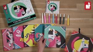 Atelier Janod - Art Créatif - Cartes Sables Chevaux