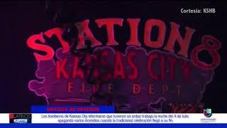 Los bomberos de Kansas City informaron que tuvieron arduo trabajo la noche del 4 de julio