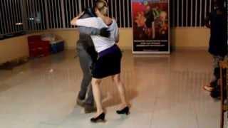Dilson (international Kizomba/Semba Champion 2009) dancing with Theresa Ruess (Kizombalove Academy)