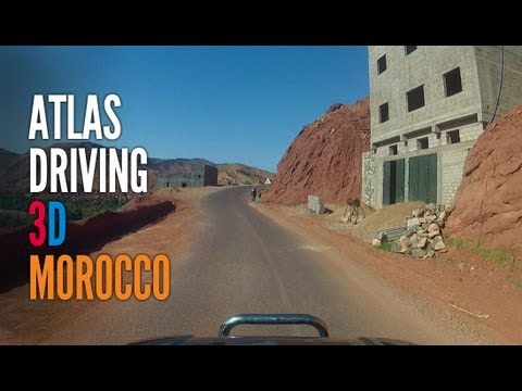 3D Atlas Mountain Pass, Morocco – Realtime Driving – GoPro 3D