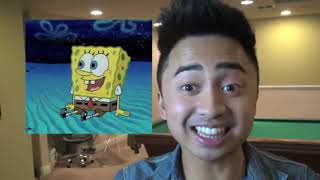 Kevin as Sponge Bob is reviewed by Tom Kenny