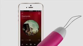 video Vibrační vajíčko ovládané mobilem Smart Mini Vibe Plus