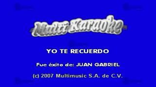 MULTIKARAOKE - Yo Te Recuerdo