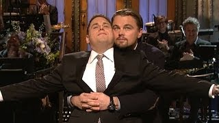 Jonah Hill & Leonardo DiCaprio Titanic Re-Enactment During SNL Monologue