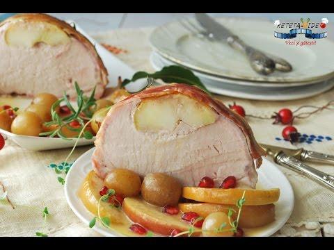 Cotlet de Porc cu Mere si Bacon la Cuptor