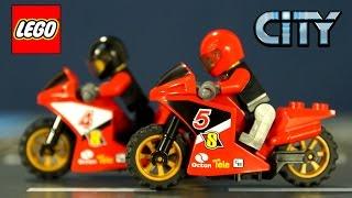 Конструктор Lego City 60084. Лего Мультики на русском языке. Игрушки Мотоциклы для Мальчиков.