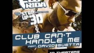 Flo Rida - club can't even handle me - ft David Guetta - lyrics -