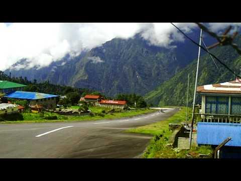 Take off from Lukla, Nepal