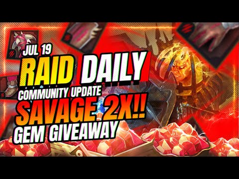 CRAZY 2x Gear Event! GEM GIVEAWAY! | RAID Shadow Legends