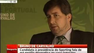 Bruno de Carvalho na LusaTV- resumo SIC Noticias