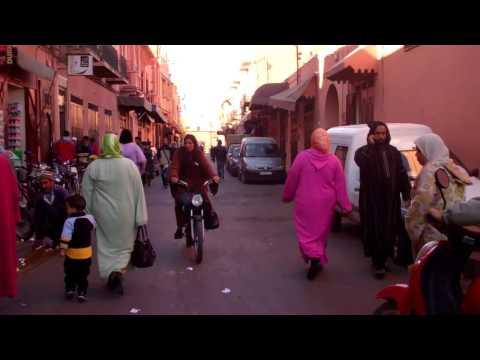Street Scene Marrakech Morocco