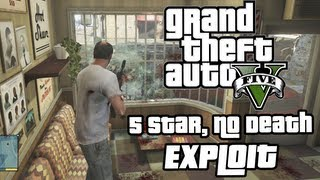 GTA V - 5 STARS (Can't die) EXPLOIT- ONE WAY GLASS
