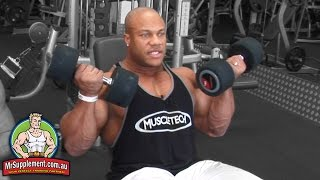 Phil Heath's Incline Dumbbell Curl   Bicep Exercise #2
