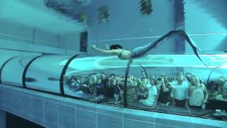 Ilaria Molinari e Gocce di Sirena alla Y-40 / Русалка и самой глубокой в мире бассейн: Y-40, Италия