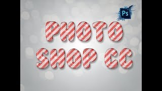 Photoshop Tutorial : 3D Text make by Photoshop CC without plugin width=