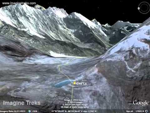 Google Earth Tour – Everest Base Camp trek via Gokyo and Cho La