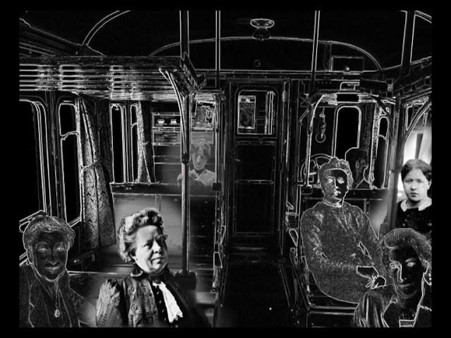 Women Pioneers on the train