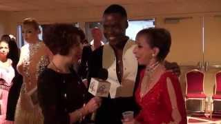 2014 Ohio Star Ball - Donna Edelstein interviews couple Jean Michael & Carolyn near Recall Board.